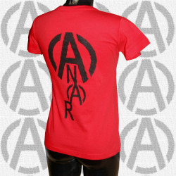 A & Anar, t-shirt rouge, femme dos