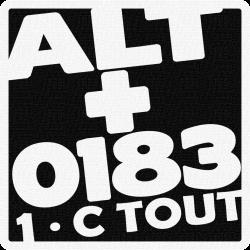 ALT+0183 patch à coudre 9cm