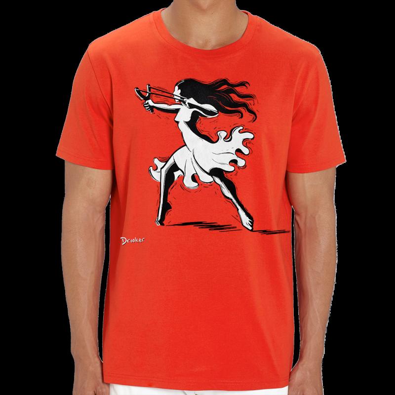 DROOKER Slingshot t-shirt unisexe en coton bio équitable