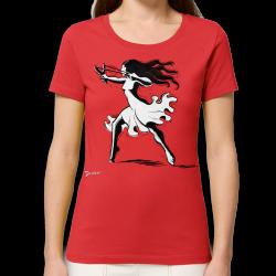 DROOKER Slingshot t-shirt feminin en coton bio équitable