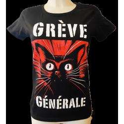 DROOKER Grève Générale t-shirt féminin en coton bio équitable