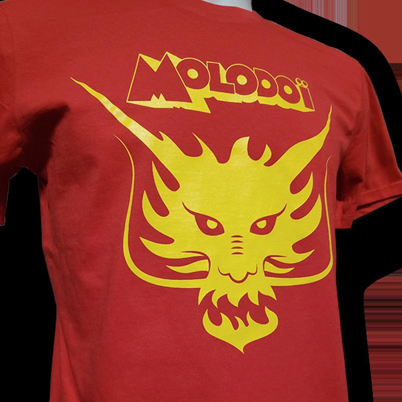 MOLODOÏ t-shirt rouge unisexe en coton bio équitable