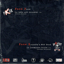 BRASSEN'S NOT DEAD vs PKRK Split EP vinyle 2020 back cover