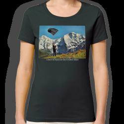 LANCER DU DRAPEAU NOIR t-shirt femme en coton bio