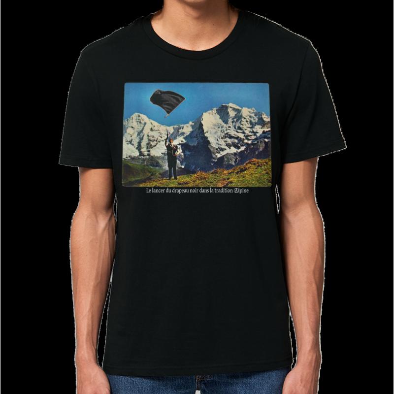 LANCER DU DRAPEAU NOIR t-shirt masculin en coton bio