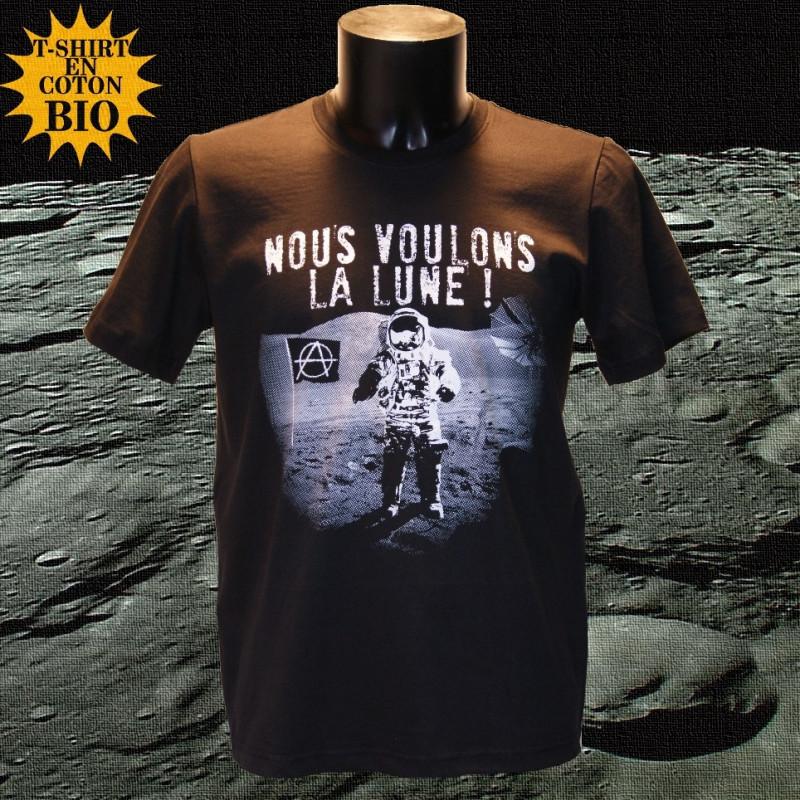 Nous voulons la Lune - t-shirt bio homme - Photo