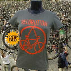 Vélorution - T-Shirt bio kaki