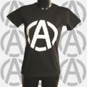 A & Anar, t-shirt femme noir devant