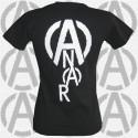 A & Anar, t-shirt noir femme dos