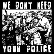 "Anartisanart t-shirt 20 Minutes de Chaos II ""We dont need your police"""