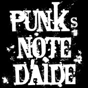 Clochtard Crasvat - Anartisanat Punk, rock et anarchiste - Motif - Punks Note d'Aide