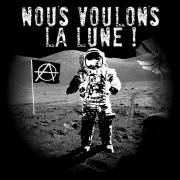 """Clochtard Crasvat - Vêtement Punk, rock et anarchiste - Tous les modèles """"Nous voulons la Lune"""""""