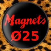 Anartisanart - Artisanat Punk, militant et anarchiste - Magnets Ø25mm